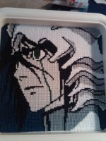 Ulquiorra Cross-stitch by ShadowsoftheRose