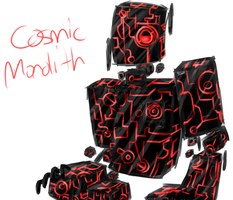 humanoid cosmic monolith?? by Lost-Pyromaniac