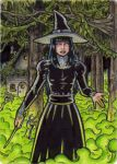 Witch Metal Sketch Card 1 - Hallowe'en Witchcraft by tonyperna