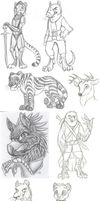 Sketch Dump Nov2011 to Mar2012 by therougecat
