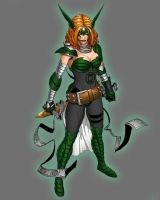 Green Lantern Angela by Lord-Lycan