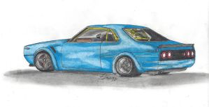 lowered Nissan Skyline C210 by Mister-Lou