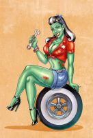 Zombie Girl for Car Club by EricaHesse