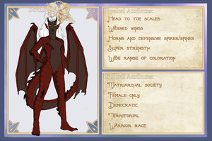 SoC :: Dragonian Species Sheet by Hakari-chan