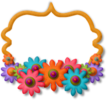 Puffy Flower Frame by HGGraphicDesigns