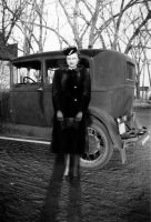 Lady and Car by infrastock