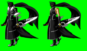 BBCP Hayate Kurosagi/Shadow new battle stance by NIGHTMAREZENUKI
