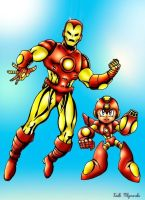 Iron Man upgrades Megaman by Gamemusicfreak