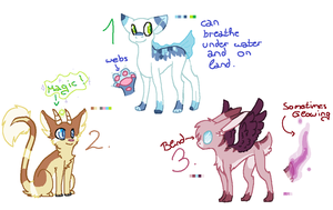 ADOPTABLES BATCH 1 CLOSED by Caintt