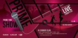 Prime Time Music Ticket Banner Flyer by n2n44