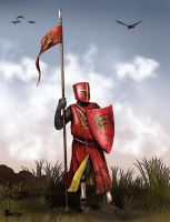 Dismounted English knight by dmavromatis