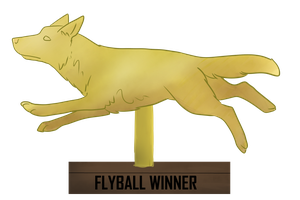 Flyball Trophy by Alcemistnv