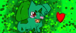 Bulbasaur with cookie by OXxDarkStarxXO