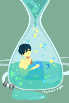 starry water clock by yuilien