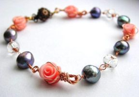 Posies at Dusk bracelet by sojourncuriosities