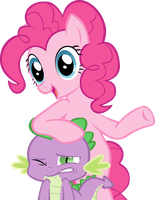 Pinkie Pie and Spike by TrotPilgrim