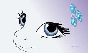 MLP Rarity eyes wallpaper by snakehands