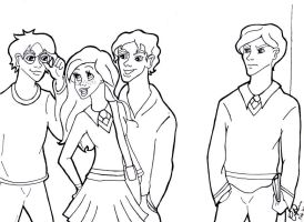 Draco, Ginny, Harry and Seamus by I-A-M