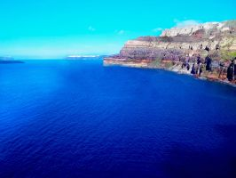Contrasting Blue Sea by PhillipHartman
