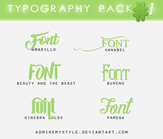 TYPOGRAPHY PACK #1 by AdmireMyStyle