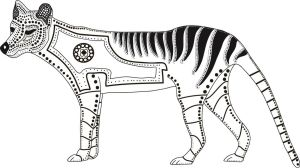 Black and white thylacine project by vito303