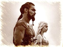 The Khal and Khaleesi by Hernandez-Henson