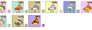 Animal Crossing Pixel Avatars- Monkeys by Maareep