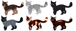 Cat Adoptables -open- by mokkou