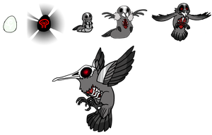 Adoptables- The Death Hummingbird by Mariannefosho