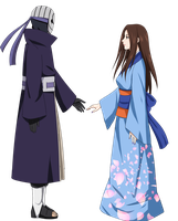commission: Izumi and Obito by S-I-M-C-A