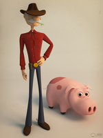 The Sherife and the Pig by Luther2s