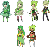Pokemon Grass Starter Adopts [2/6 OPEN] by Yulearse