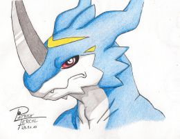 Exveemon faceshot by ZodimWolfclaw