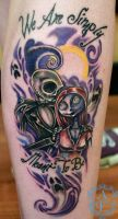 Jack and Sally NBC Tattoo done by Sean Ambrose by seanspoison