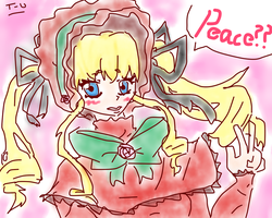 And Shinku says...peace? by Toxic-Utahime
