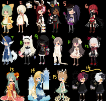 Dream Selfy Adopts - SET 1 (DTA) by moonlitblackcat