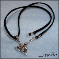 Celtic Triad Necklace for Men by 1337-Art
