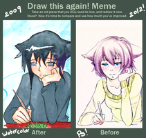 Before and after meme by tori-no-uta