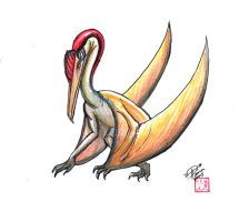 Draw Flying Dino II colored by Diana-Huang