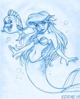 Ariel Pencils by EddieHolly