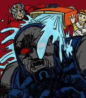 Darkseid Bucket Challenge by JNcomix