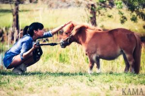 Michelle and Holly, the Dwarf Pony by Kama-Photography