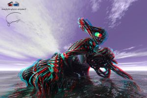 Digital Art anaglyph 22 by Santosky