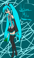 Hatsune Miku by InvaderZaff
