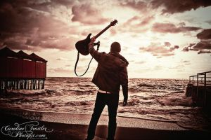 guitar at the sea by CaroFiresoul