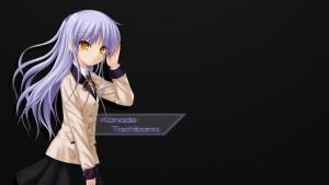 Simple Backgrounds: Kanade Tachibana by B1itzsturm
