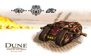 Harkonnen Dragon Tank by gntlemanartist