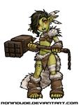 Evening Drawing - Goblin Barbarian by RoninDude