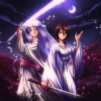 Rukia and Zanpakuto by Axsens