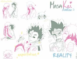 MasaKai/Persistanceshipping Doodles by TheNomzMonster